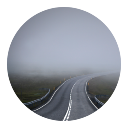 Stress and Uncertainty - Foggy Road